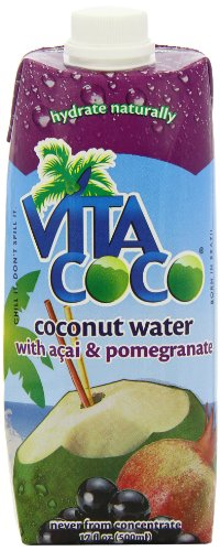 Vita Coco 100% Natural Coconut Water with Acai and Pomegranate 500 ml (Pack of 4)