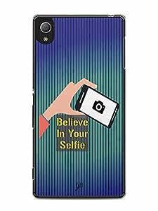 YuBingo Believe in your Selfie Designer Mobile Case Back Cover for Sony Xperia Z4