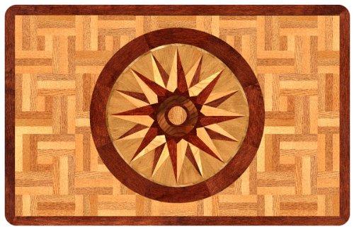 Bungalow Flooring 2 by 3-Feet Surfaces Floor Mat, Compass Rose Design