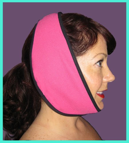 Face Caddy, Hot And Cold Therapy Wraps (Hot Pink), Includes 2 Reusable Hot/Cold Gel Packs.
