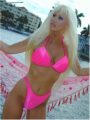 Hot Pink High Cut Brazilian Style Bikini Bottom (Medium) at Amazon