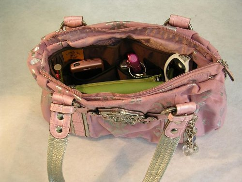 Purse To Go purse organizer insert transfer liner-ENCLOSED BOTTOM- BUCKET TYPE-Tan color &#8211; Large size (12&#8243;L x 6&#8243;H x 3.5&#8243;W)