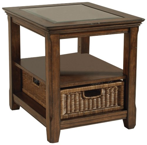 Discount Buy Magnussen Tanner Wood Rectangular End Table