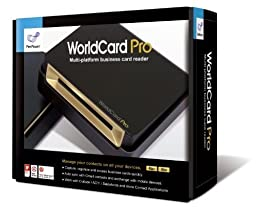 WorldCard Pro Business Card Scanner (Newest Version), Double-sided, Outlook Support, Multiple languages. Bundle with Hot Deals 4 Less Premium Portable Power Backup Charger for ultimate portability.
