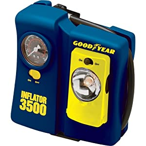 Goodyear i3500 12-Volt Tire Inflator with Removable Light