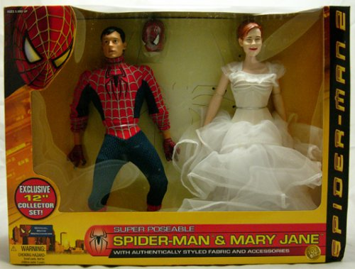 Buy Low Price Toy Biz Spider-man 2 Wal-mart Exclusive 12″ Collector Doll Set with Spider-man & Mary Jane Dolls Action Figures 2 Pack By Toy Biz (B000A8RDQQ)