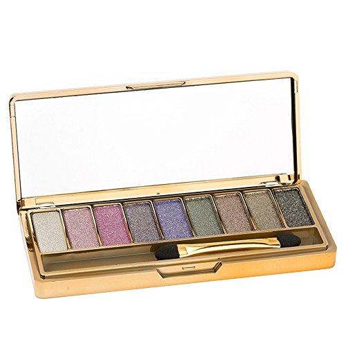 Contever® Pro Make Up Designer 9 Colori Shimmer Palette di ombretti Trucco Tavolozza 001