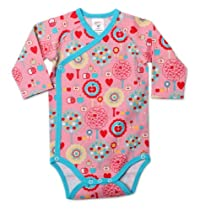 Zutano Baby-Girls Newborn Apple Tree Long Sleeve Body Wrap, Pink, 3 Months