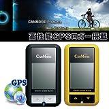 バッテリー内蔵 USB接続 GPSロガー搭載 サイクルコンピューター 取り付けホルダー付き◇FS-GP-101 (イエロー)