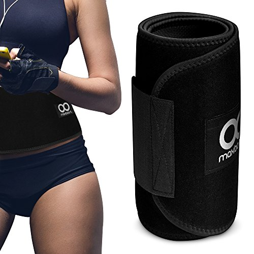 Waist Trimmer, Maxboost Premium Weight Loss Ab Belt for Men & Women [Black] Workout Sweat Enhancer Exercise Adjustable Wrap for Stomach - Enjoy Sweet Abdominal Muscle & Back Support (Waist Trimmer Belts compare prices)