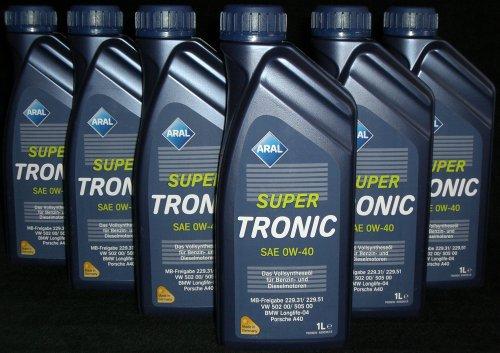 Aral Super Tronic SAE 0W-40 LOW SAPS Motoröl