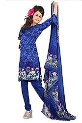 Variation Women's Blue Jacquard Unstiched Dress Material (VD11971)