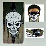 Tactical Military Skull Face Masks,Motorcyclist Neck Warmer,Multi Cold Gear