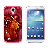 Graphics and More Snap-On Hard Protective Case for Samsung Galaxy S4 - Aries Ram Zodiac - Astrological Sign Astrology - Non-Retail Packaging - Pink