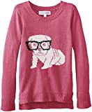 Derek Heart Big Girls Long Sleeve Sweater Pullover with Feather