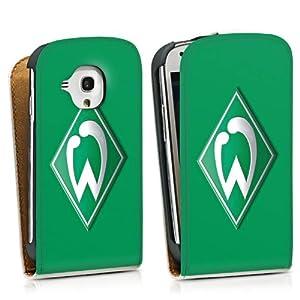 Samsung Galaxy S3 Mini Downflip Tasche Hülle weiß - Werder Bremen grün