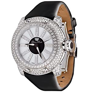 Glam Rock Women's GR80010 Special Edition Collection Diamond Accented Black Techno Watch