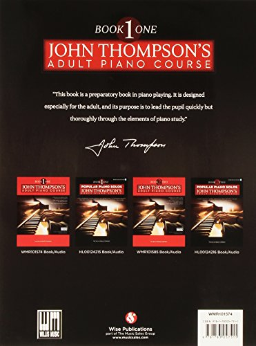 John Thompson's Adult Piano Course: Book One (Book/Download Card)