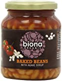 Biona Organic Jarred Baked Beans Tomato Sauce 340 g (Pack of 6)