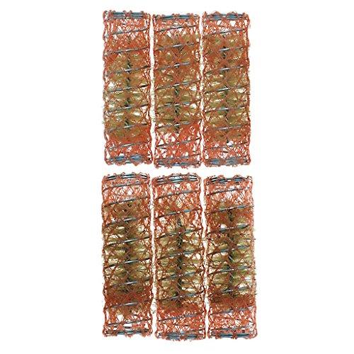 6 pz Accessori Bagno - Bigodini ed accessori Bigodini per capelli rete con scovolo. Materiale: Plastica