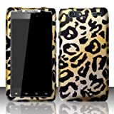 Motorola Droid Razr Maxx XT912M Accessory - Golden Cheetah Spot Design Protective Hard Case Cover for Verizon+Screen/Lens Cleaning Cloth