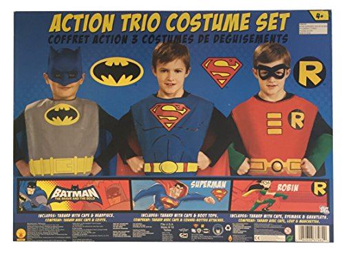 Superhero Costume Girl Cape and Mask Set of 4 with Silicone Glow Bracelet and Hair Band Zaleny