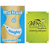Naked and Naughty - Adult Card Game For Couples - Bundle - 2 Items