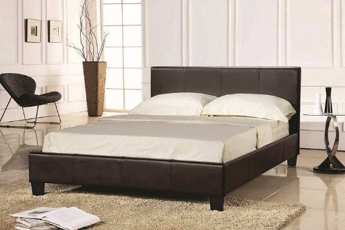 pavia-prado-4ft-6-double-bed-frame-brown-faux-leather-finishing
