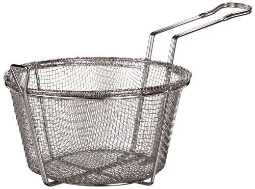 "Adcraft Bfsm-850 8.5"" Round Nickel Plated Steel Six Mesh Fryer Basket For H3-Fp5 Pan"