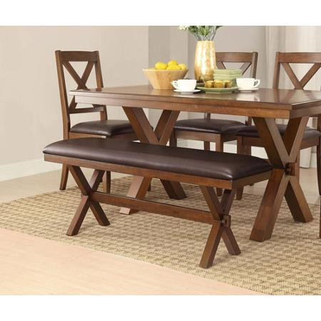 Adjustable Better Homes and Comfortable Gardens Maddox Crossing Dining Perfect Bench, Espresso Discount Low Wooden Legs Furniture Space Design Affordable Cushion Additional Seating Relax and Enjoy Kitchen (Better Homes And Gardens Table compare prices)