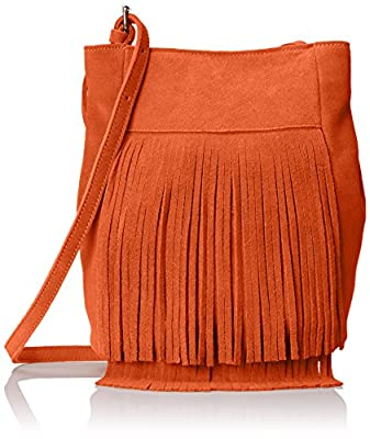 Dolce Vita Collection Suede Fringe Cross Body Bag