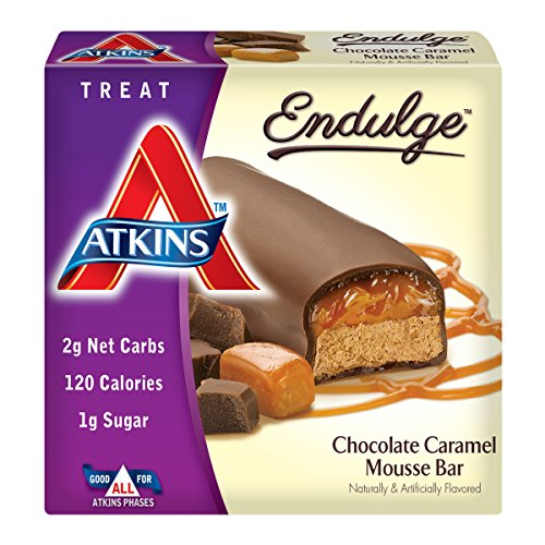 Atkins Endulge Chocolate Caramel Mousse Treat Bar, 1.2 oz., 5 Count Bars