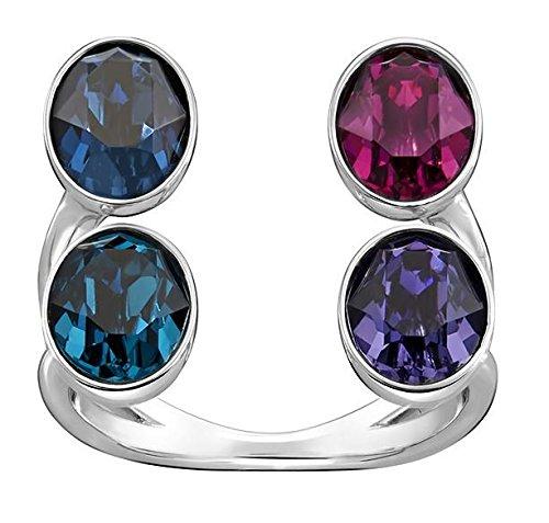 Swarovski Rodiato Eminence donna-anello multicolore taglia 52 (16,6) - 5221521