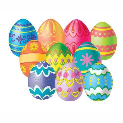 "Beistle Party Decoration Mini Easter Egg Cutouts 4 1/2"" (10 Count)"