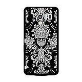 docomoドコモ AQUOS PHONE EX SH-04E 対応 携帯ケース 2268Gothic White ( Black ) 黒ベース TPU