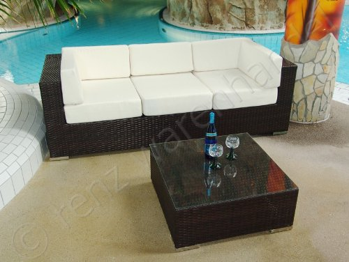 Gartenmöbel / Lounge Set Polyrattan braun meliert - Modena 17