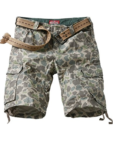 Match Men's Camo & Solid Color Military Cargo Shorts#S3620(3620 Apricot max,36W x Regular)