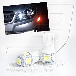 TGP T10 White 5 LED SMD Wedge 5050 Parking Light Bulbs Pair 1998-2006 Lexus GS300 GS400 GS430