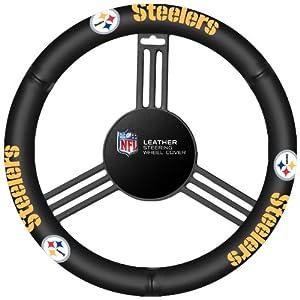 NFL Pittsburgh Steelers Leather Steering Wheel Cover by Fremont Die