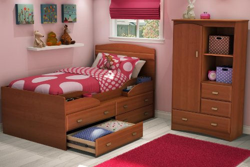 South Shore Imagine Kids Twin Captain 39 S Bed 2 Piece Bedroom Set In Morgan Cherry Finish New