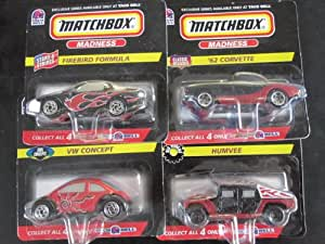 Matchbox, Taco Bell Humvee, 62 Corvette, VW Concept, and Firebird Formula-4 Car Complete Set,