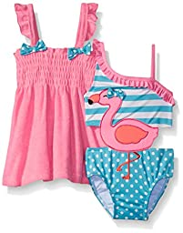 Baby Buns Baby Flamingo Connector Terry Cover Up Swim Set, Multi, 18 Months