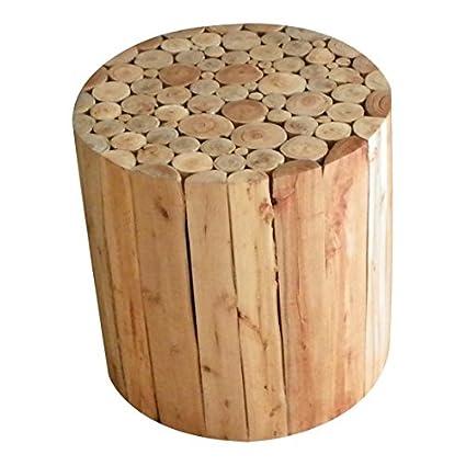 Mars & More de madera de la mesa de centro de diseño redondo de madera de álamo ø40cm