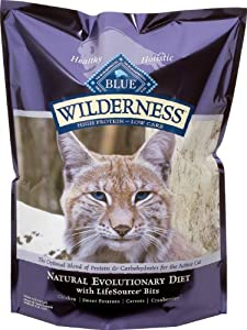 Blue Buffalo Wilderness Grain Free Dry Cat Food, Chicken Recipe, 12-Pound Bag