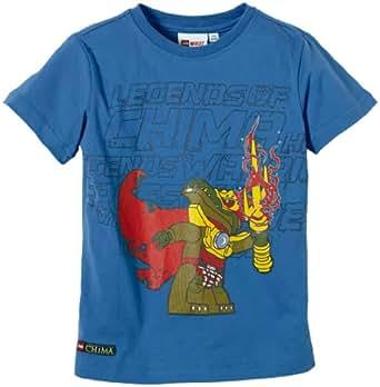 LEGO Wear T-shirt  Col ras du cou Manches courtes Garon - Bleu - Blau (549 BLUE) - FR : 4 ans (Taille fabricant : 104)