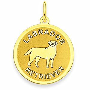 14k Labrador Retriever Disc Charm