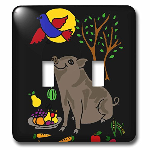 all-smiles-art-animals-funny-grey-pot-bellied-pig-with-food-and-bluebird-overhead-light-switch-cover