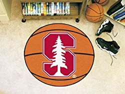 "Stanford Cardinal 29"" Round Basketball Floor Mat (Rug)"
