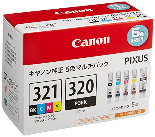 Canon Ink Tank BCI-321 (BK / C / M / Y) + BCI-320 multi-pack