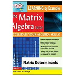 Matrix Algebra Tutor: Matrix Determinants